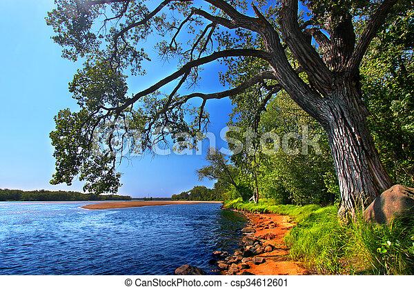 Wisconsin River Landscape Portage - csp34612601