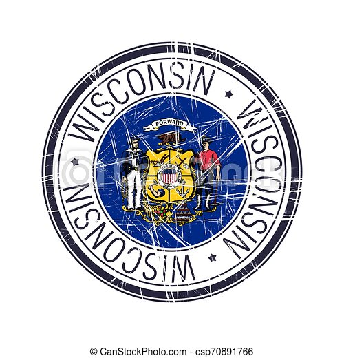 Wisconsin rubber stamp - csp70891766