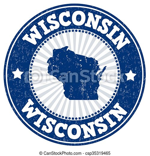 Wisconsin stamp - csp35319465