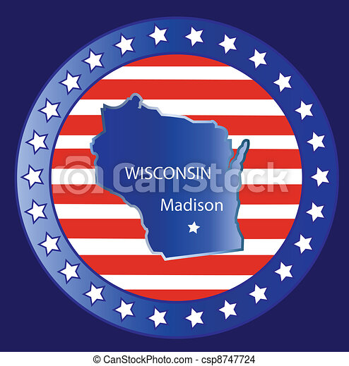 Wisconsin state map - csp8747724