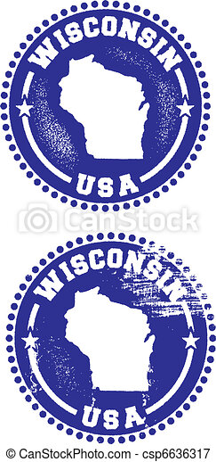 Wisconsin USA Stamps - csp6636317