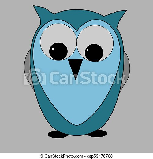 wise blue owl wise owl blue cute back to school clip art vector rh canstockphoto com Red Owl Clip Art Red Owl Clip Art