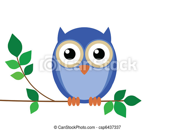 Wise old owl  - csp6437337