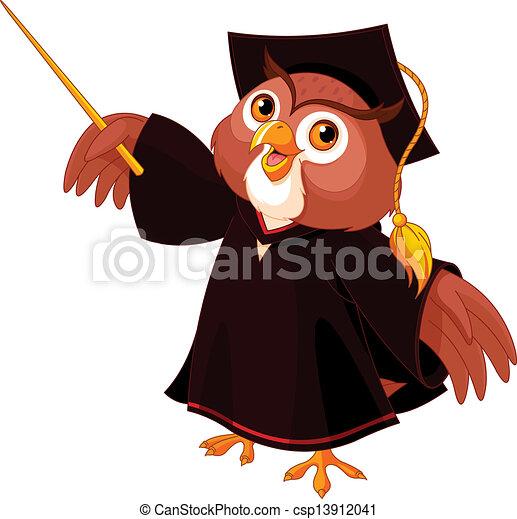 Wise owl - csp13912041