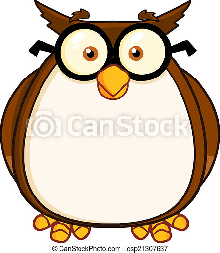 wise owl teacher cartoon character with glasses vectors search rh canstockphoto com