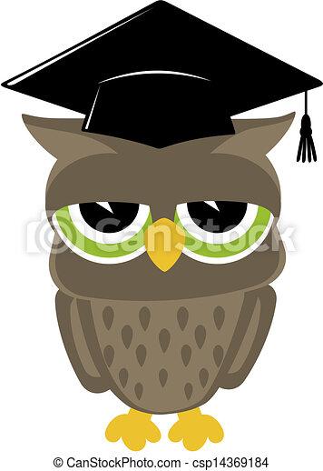 wise owl vector - csp14369184
