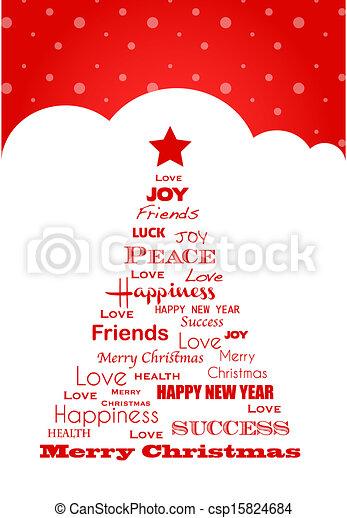 Wish For Christmas.Wish Tree Christmas Card