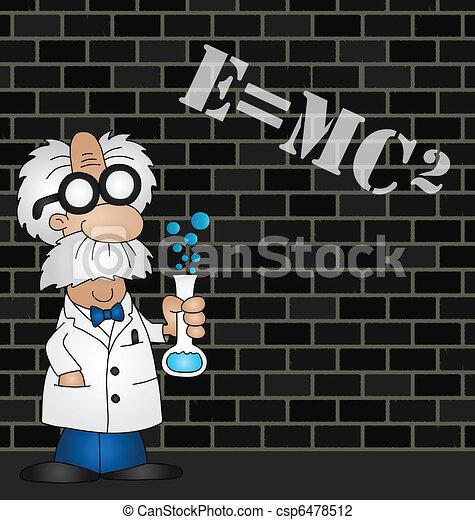 wissenschaftler, gleichung - csp6478512