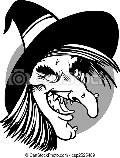 witch face line art - csp2525489