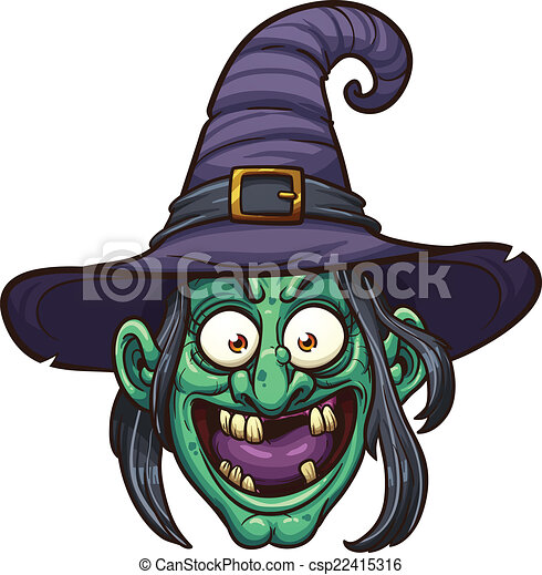 Witch face - csp22415316