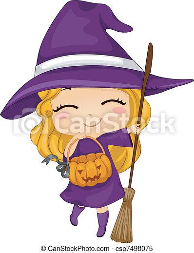 Witch Kid - csp7498075