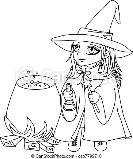 Witch lineart 2  - csp7799710