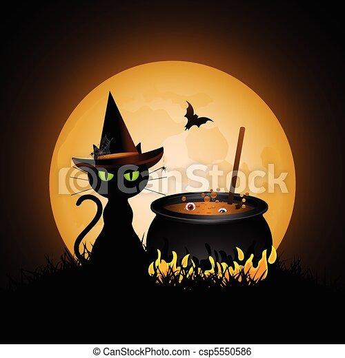 witches cauldron - csp5550586