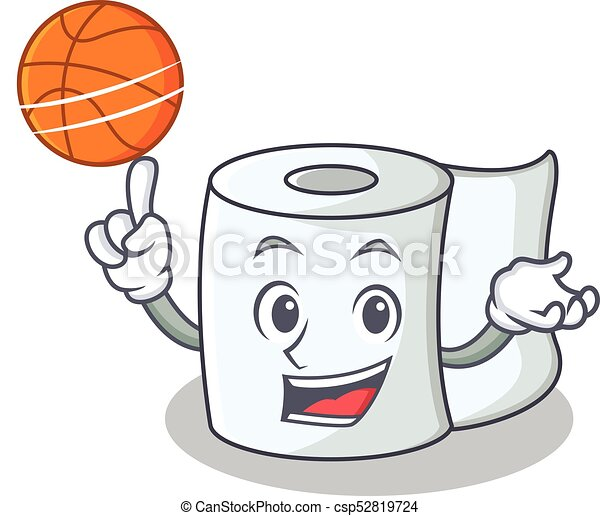 With basketball tissue character cartoon style - csp52819724