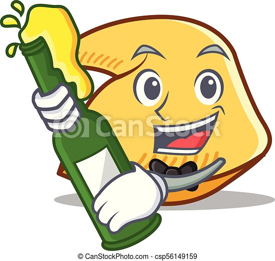 with beer fortune cookie mascot cartoon vector illustration clipart rh canstockphoto ie