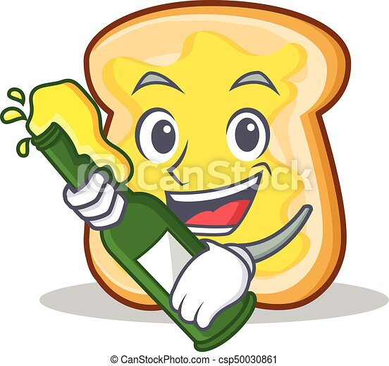with beer slice bread cartoon character vector art clip art rh canstockphoto com bread slice clipart 2 slices of bread clipart