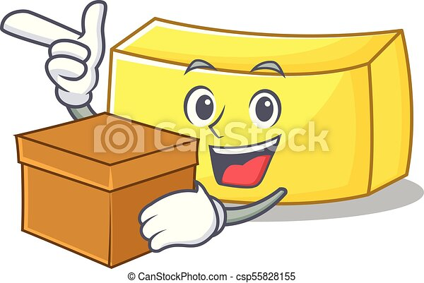 With box butter character cartoon style - csp55828155