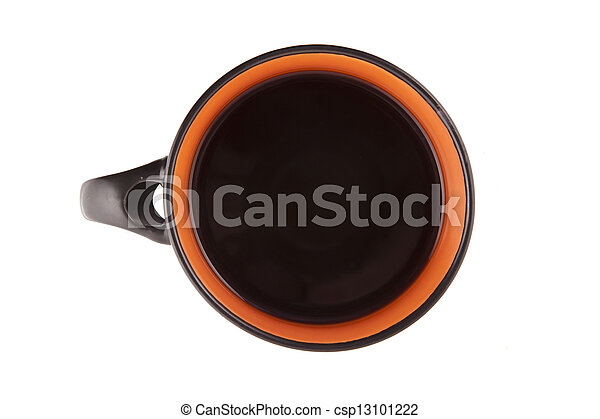 with Cup of coffee on white background - csp13101222