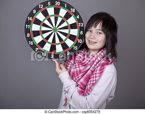 with darts. - csp6054279