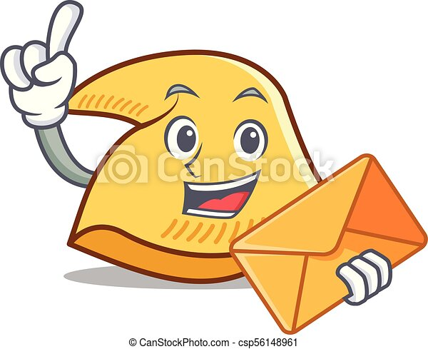 with envelope fortune cookie character cartoon vector clip art rh canstockphoto ca