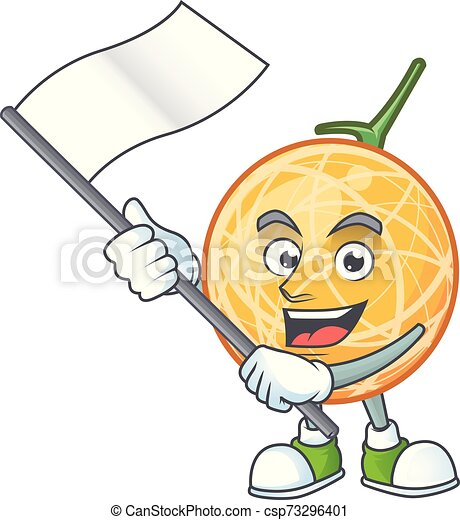 With Flag Object Cantaloupe Fruit For Mascot Character Vector Illustration Find your ideal cantaloupe color combinations at shutterstock. can stock photo