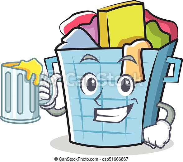 with juice laundry basket character cartoon vector clip art rh canstockphoto com