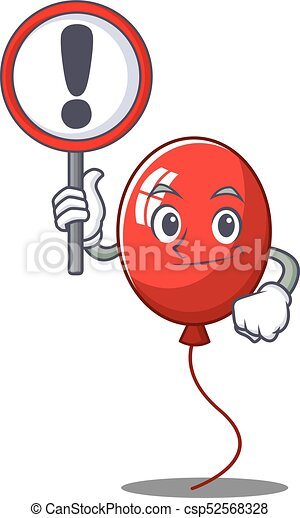 With sign balloon character cartoon style - csp52568328