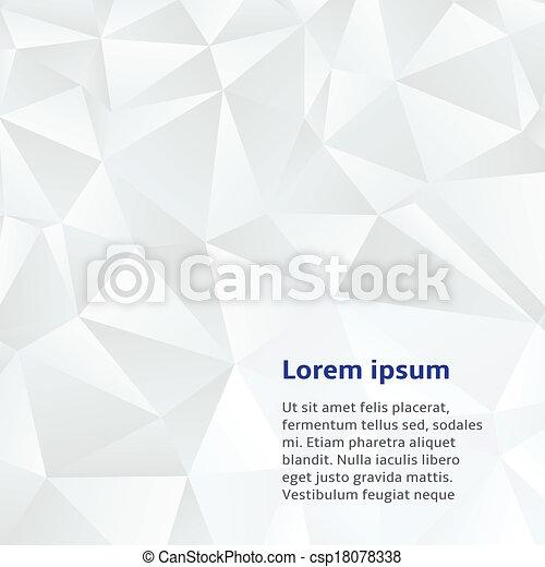 witte , abstract, achtergrond, geometrisch - csp18078338