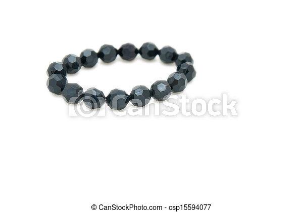 witte , armband, vrijstaand, achtergrond - csp15594077
