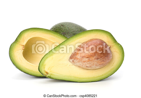 witte , avocado, vrijstaand, achtergrond - csp4085221