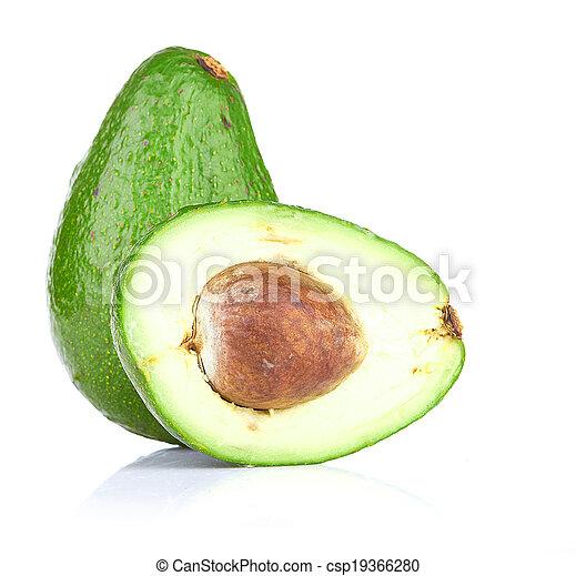witte , avocado, vrijstaand - csp19366280