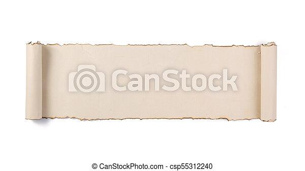 witte , boekrol, vrijstaand, perkament - csp55312240