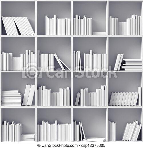 witte , bookshelves - csp12375805
