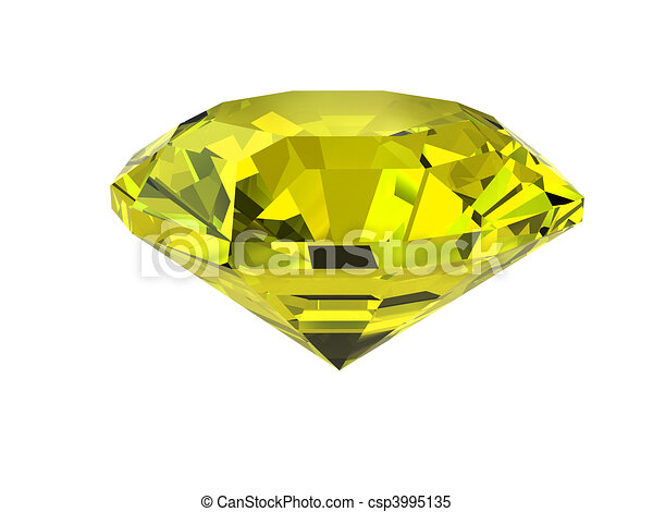 witte , diamant, vrijstaand, gele - csp3995135