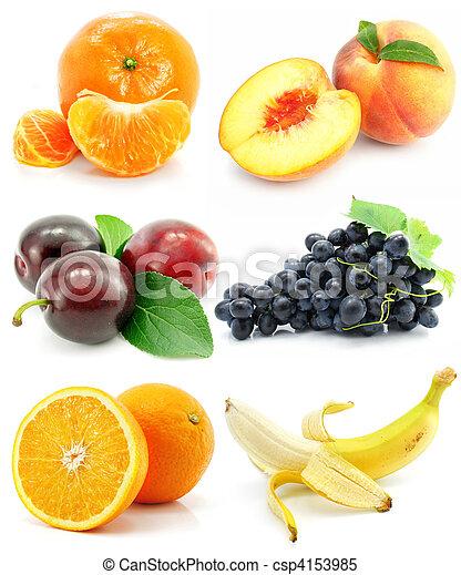 witte , fruit, vrijstaand, verzameling - csp4153985