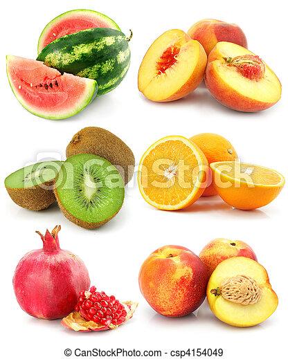 witte , fruit, vrijstaand, verzameling - csp4154049