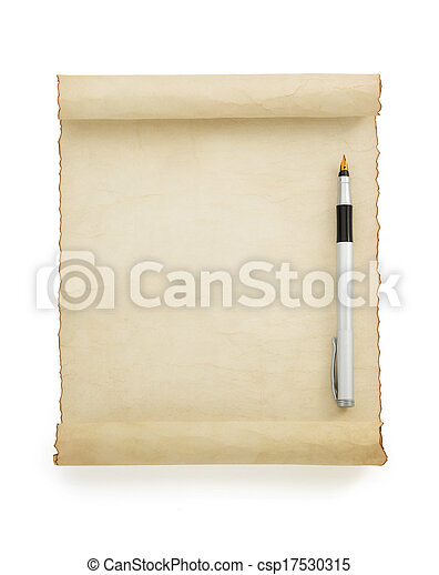 witte , perkament, boekrol - csp17530315