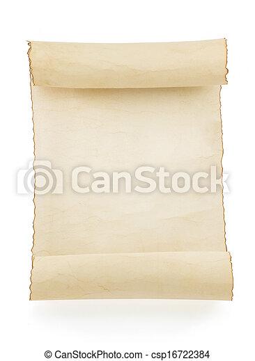 witte , perkament, boekrol - csp16722384