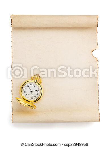 witte , perkament, boekrol - csp22949956