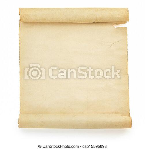 witte , perkament, boekrol - csp15595893