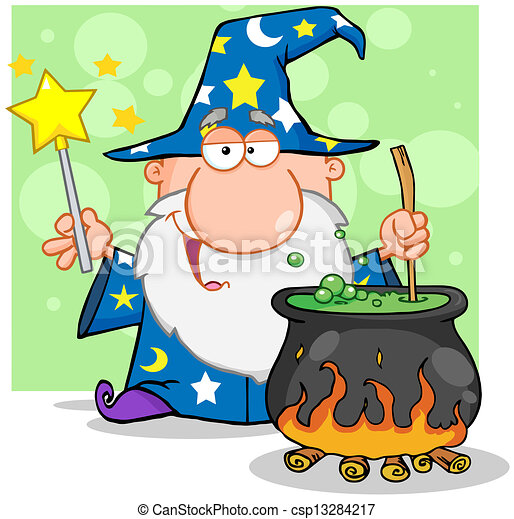 Wizard Preparing A Potion - csp13284217