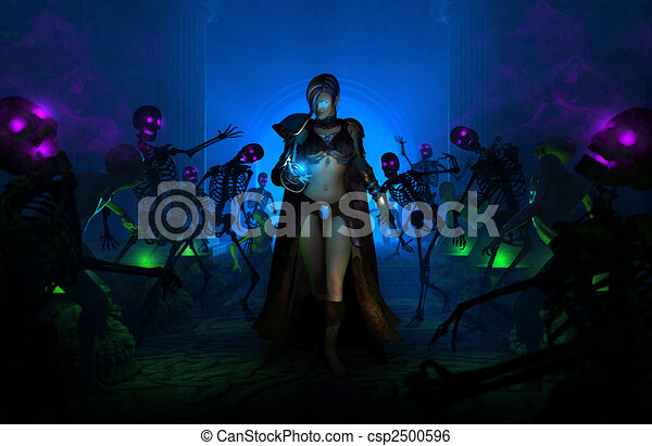 Wizard woman - csp2500596