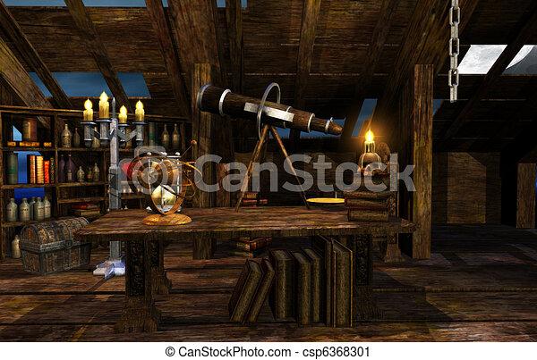 Wizard S Room 3d Render