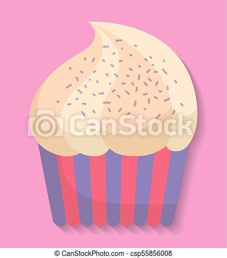 wizerunek, cupcake, ikona - csp55856008