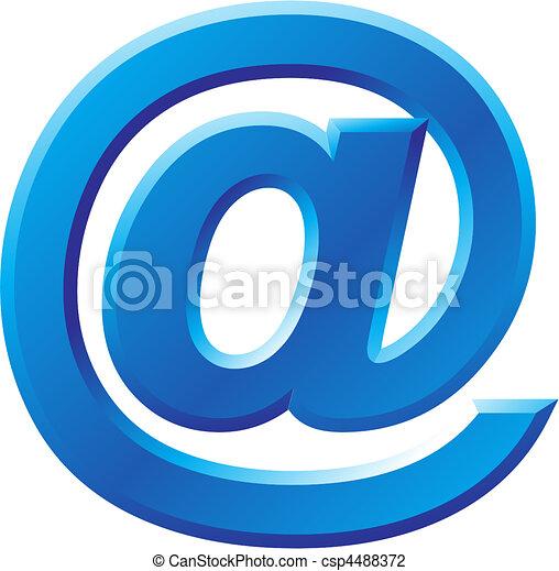 @, wizerunek, symbol, internet - csp4488372