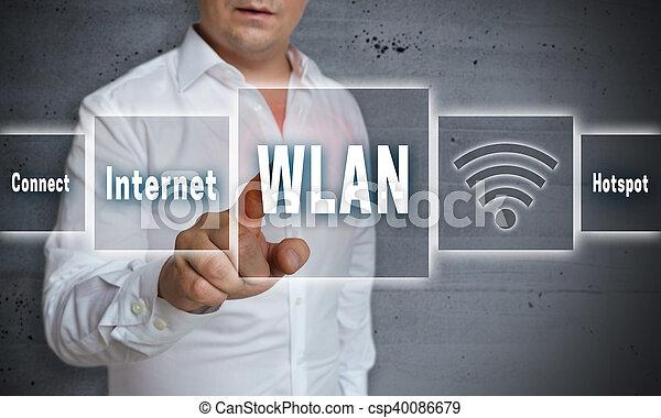 wlan hotspot touchscreen concept background - csp40086679