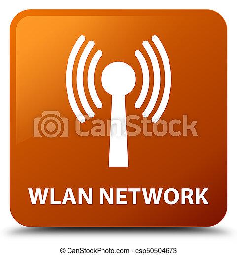 Wlan network brown square button - csp50504673