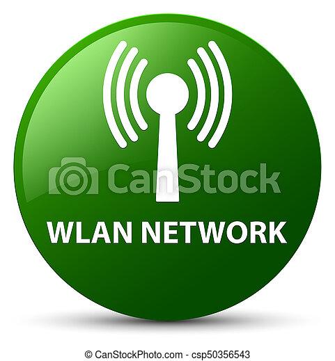 Wlan network green round button - csp50356543