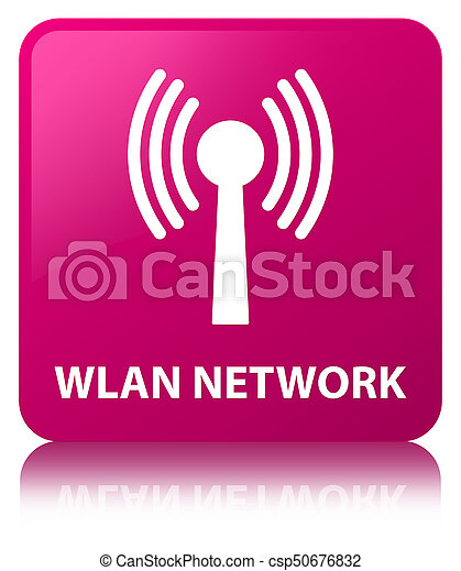 Wlan network pink square button - csp50676832