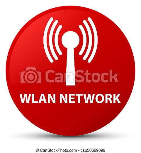 Wlan network red round button - csp50669099